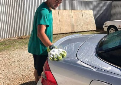 The car washing mitt is very effective for removing bird droppings which can damage the car paint work