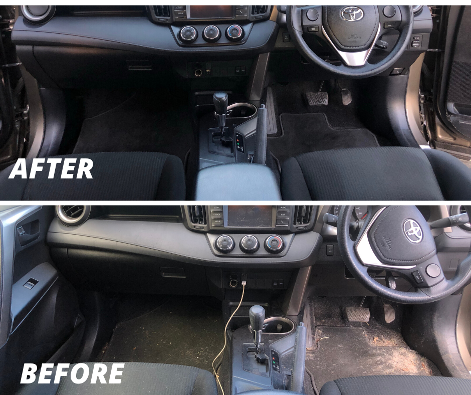 Car Detailing (Interior) - Before & After - Get a quote online for your next job