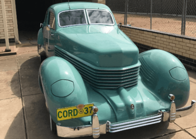 Detailing a Cord 37 in suburban Adelaide