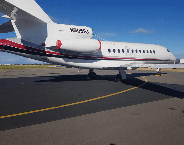 Our team detailed a Hollywood superstar's private jet