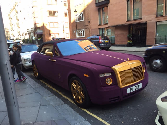 We spotted this car while we were in London it would be tricky one to detail because the duco is actually purple verlour